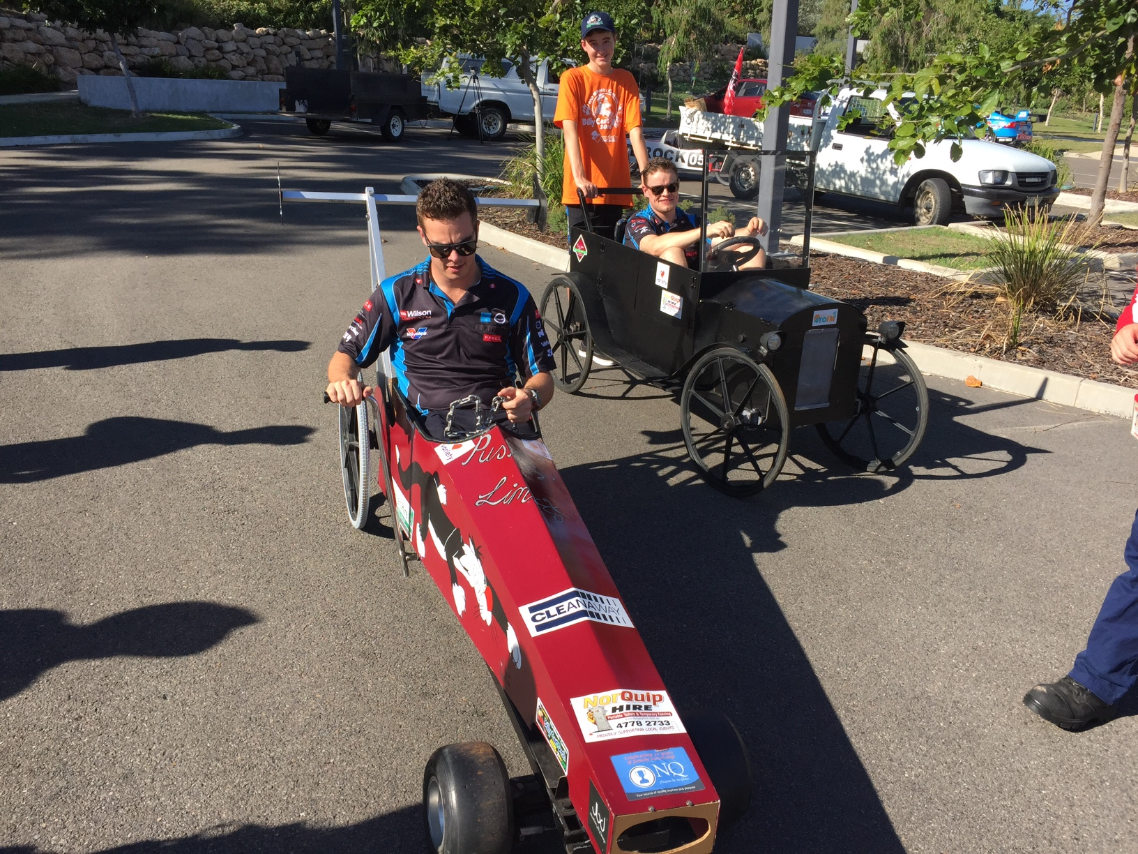 PAYCE drivers swap horsepower for push power at Townsville Billy Cart Dash launch - Newsflash